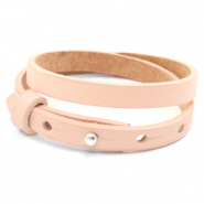Cuoio bracelets leather 8mm double for 12mm cabochon Delicacy Pink