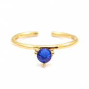 Must-have rings one stone Gold-Blue (nickel free)
