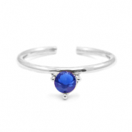 Must-have rings one stone Silver-Blue (nickel free)