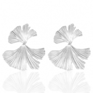 Trendy earrings Ginkgo leave Silver (nickel free)