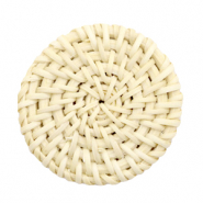 Braided rattan pendants round 40mm Naturel Beige
