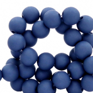 6 mm acrylic beads matt Midnight Blue