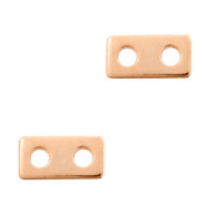DQ European metal findings connector 10x5mm Rose Gold (nickel free)
