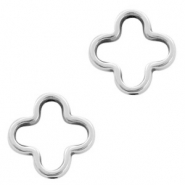DQ European metal charms connector cross Antique Silver (nickel free)