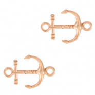 DQ European metal charms connector anchor Rose Gold (nickel free)