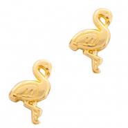 DQ European metal beads flamingo Gold (nickel free)