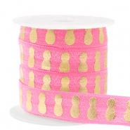 Elastic ribbon pineapple Pink-Gold