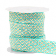 Elastic ribbon mermaid Turquoise-Gold