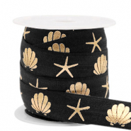 Elastic ribbon shell/sea star Black-Gold