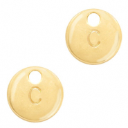 Metal charms initial C Gold (nickel free)