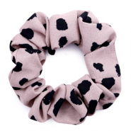 Scrunchie dots print hair tie Taupe