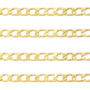DQ European metal findings belcher chain flat 3.5mm Gold (nickel free)