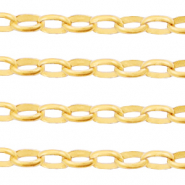 DQ European metal findings belcher chain 3.5mm Gold (nickel free)