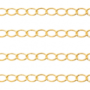 DQ European metal findings belcher chain 3mm Gold (nickel free)