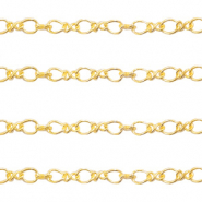 DQ European metal findings belcher chain 2.8mm Gold (nickel free)
