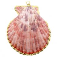 Shell pendant specials Scallop Vintage Pink-Gold