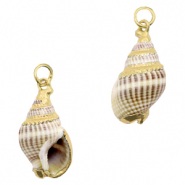 Shell pendant specials Whelks Cream Greige-Gold