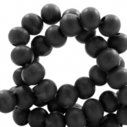 Wooden beads round 8mm Black