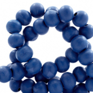 Wooden beads round 6mm Galaxy Blue
