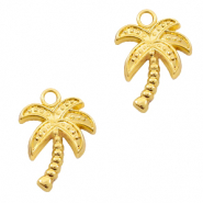 Metal charms palmtree Gold (nickel free)