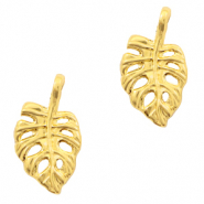 Metal charms leaf Gold (nickel free)