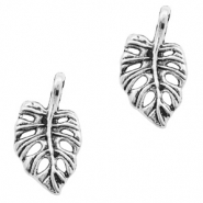 Metal charms leaf Antique Silver (nickel free)