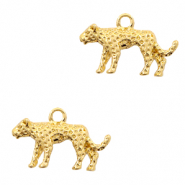 Metal charms leopard Gold (nickel free)