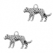 Metal charms leopard Antique Silver (nickel free)