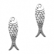 Metal charms fish Antique Silver (nickel free)