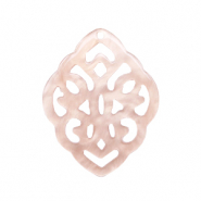 Resin pendants rhombus baroque Delicacy Rose