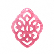 Resin pendants rhombus baroque Mellow Rose
