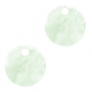 Resin pendants round 12mm Bit of Green