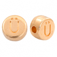 DQ European metal letter beads Ü Rose Gold (nickel free)