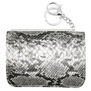 Trendy wallets snake Anthracite Grey