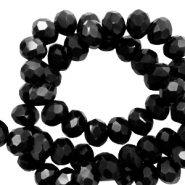 Top faceted beads 8x6mm disc Black