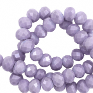 Top faceted beads 8x6mm disc Lavender Purple-Pearl Shine Coating
