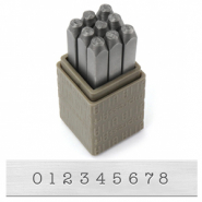 ImpressArt Basic Typewriter number stamps 3mm Grey