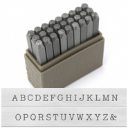 ImpressArt Basic Typewriter Uppercase letter stamps 3mm Grey