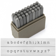 ImpressArt Basic Typewriter Lowercase letter stamps 3mm Grey