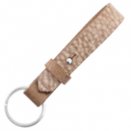 Cuoio key chain 15 mm Sequoia Brown