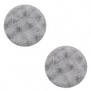 DQ European leather cabochons 20mm Concrete Grey