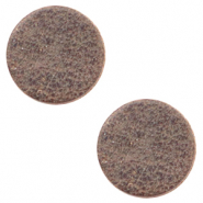 DQ European leather cabochons 20mm Toffee Brown