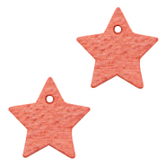 DQ European leather charms star Living Coral Red