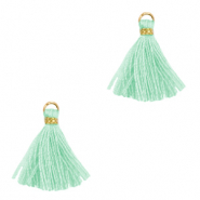 Tassels 1.5cm Gold-Turquoise Green