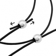 Stainless Steel findings bead/clasp 6x4.7mm (Ø2mm) Silver