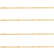 Stainless Steel findings belcher chain 1.4mm Gold
