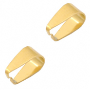 Stainless Steel findings oval jump ring 9x5.5mm Gold