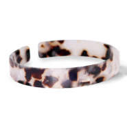Ready-made Bracelets resin loose fit Off White-Brown