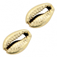 Shell bead specials Cowrie Gold