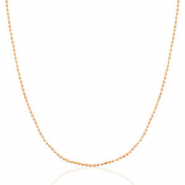 Stainless steel necklaces ball chain Mix&Match Rose Gold